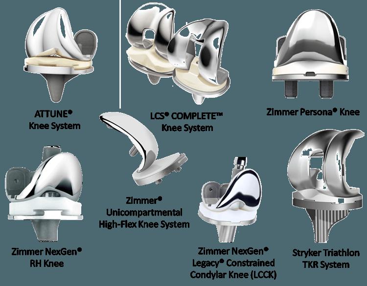 Какие материалы используются для изготовления коленного сустава?